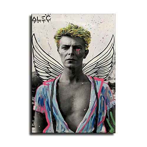 David Bowie Open Shirt Helmut Newton Leinwand-Kunstdruck Poster und Wand-Kunstdruck Modern Family Schlafzimmer Dekor Poster, Kein Rahmen, 16x24inch