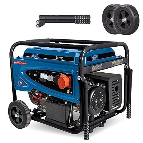 scheppach Stromerzeuger Benzin Stromgenerator Notstromaggregat SG7100 mit E-Start - Überlastungsschutz - Spannungsmesser | 15PS / 5500W | 230V / 400V AVR