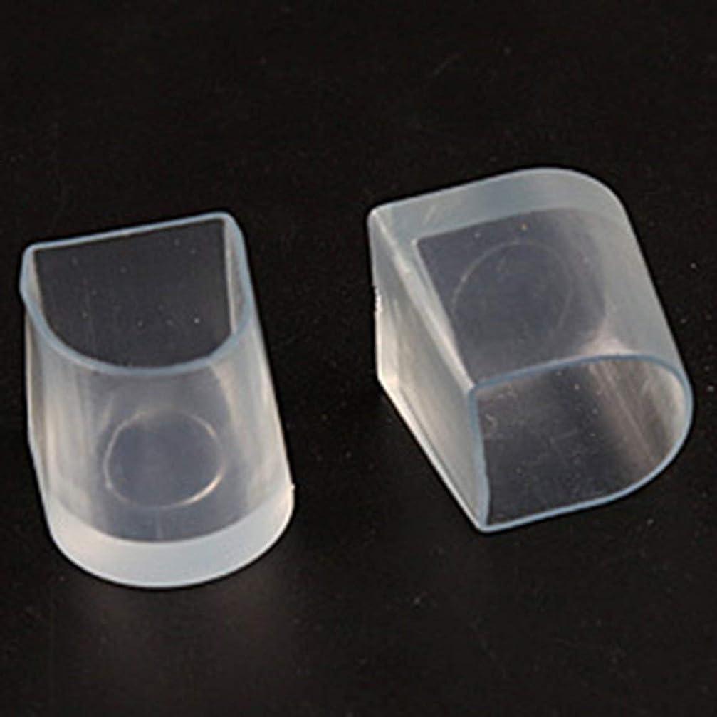 巨大なマットレス過言1ペアハイヒール保護カバーラテンスティレットダンスカバーヒールストッパー滑り止め耐摩耗性 - 透明L