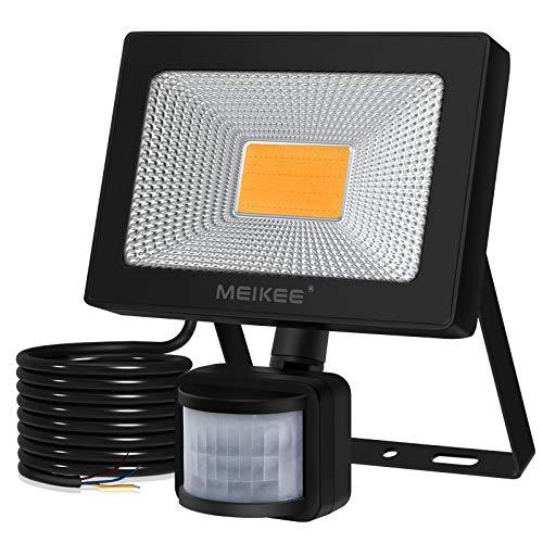 MEIKEE 20W LED Strahler mit Bewegungsmelder Superhell 2000LM LED Fluter IP66 Wasserdicht Außenstrahler 3000K Warmweiß Scheinwerfer Außenbeleuchtung für Hof, Garage, Garten