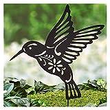 Yyoutop Hummingbird Schatten Skulptur Stahl Zweig Eule Vogel Garten Dekoration Outdoor Metall Baum Gartenpfähle Wohnkultur