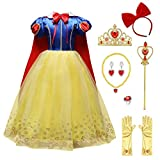 Ragazze Principessa Biancaneve Carnevale Costume...