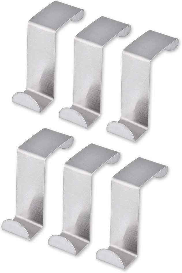 Max 63% OFF DS. DISTINCTIVE STYLE Door Hooks Stainless Pcs Max 44% OFF Over Steel 6