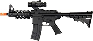 well d2806 m4 cqb ris electric airsoft gun full auto rechargeable fps-250 upgraded version, comes w/ scope(Airsoft Gun)