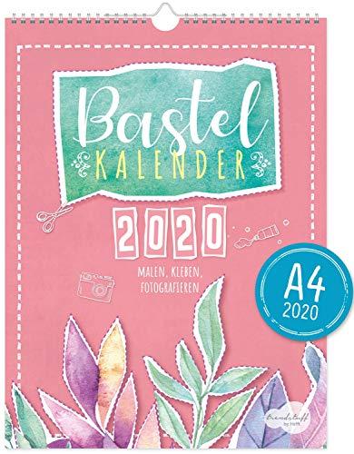 A4+ Bastelkalender 2020 [Aquarell] von Trendstuff by Häfft | Fotokalender, DIY-Kalender, Kreativ-Kalender, Geburtstags-Kalender zum Selbstgestalten - mach deinen Liebsten eine Freude!