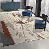 Kunsen Antideslizante alfombras Alfombra habitación Matrimonio Dormitorio Alfombra Beige Rectangular Comodidad para Caminar y Antideslizante Home Decoracion 120x160cm 3ft 11.2' X5ft 3'