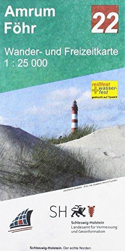 Amrum - Föhr: Wander- und Freizeitkarte 1:25 000