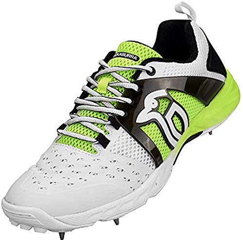 Kookaburra Metal Spikes Lime Green Cricket Shoes (9 UK)