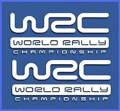 Ecoshirt 2Y-7LN5-UR9K Pegatinas WRC Rally Dr1009 Vinilo Adesivi Decal Aufkleber ???? Stickers Car Voiture, Blanco