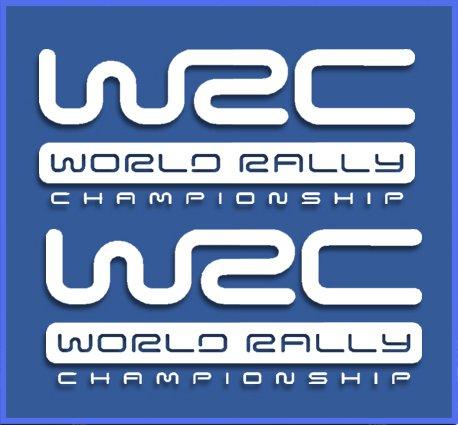 Ecoshirt 2Y-7LN5-UR9K Pegatinas WRC Rally Dr1009 Vinilo Adesivi Decal Aufkleber Клей Stickers Car Voiture, Blanco