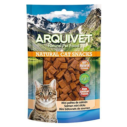 Arquivet Mini Palitos de Salmón - Snacks naturales gatos - Natural Cat Snacks - 50 g