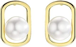 أقراط اللؤلؤ العذبة أقراط من الفضة الاسترليني مجوهرات جميلة للنساء الفتيات
