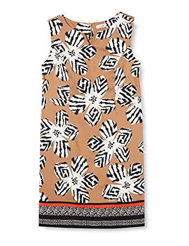 Gerry Weber Womens Kleid Gewebe Dress, Shell schwarz Tangerine d, 36
