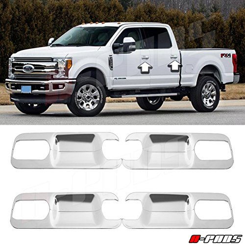 A-PADS Chrome Cover for 2017-2018 Ford F250 F350 F450 4 Door Handle Back Plates...