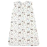 Touched by Nature Baby Organic Cotton Sleeveless Wearable Sleeping Bag, Sack, Blanket, Forest, 0-6 Months