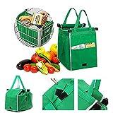 Bolsa de la compra reutilizable, plegable, ecológica, no tejida, bolsa de comestibles para ir de compras, supermercados, viajes
