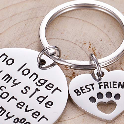 Pet Cat Dog Memorial Keychain Gifts for Pet Owner Dog Mom Dad Remembrance Memory Sympathy Gifts for Loss of Dog Pet Loss Gifts Keepsake for Dog Lover Forever in My Heart Paw Print Keyring Photo #2