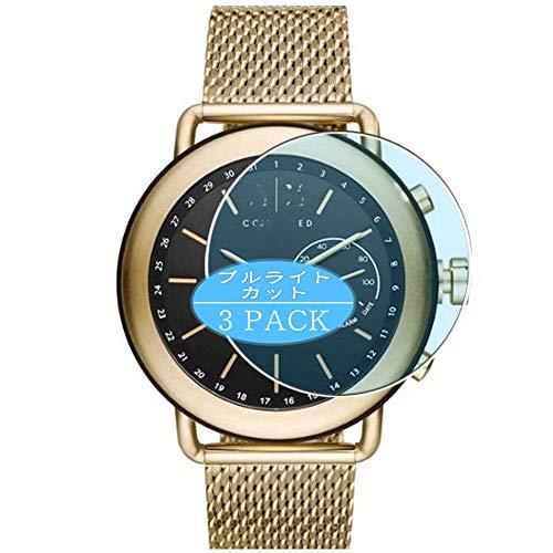 Vaxson - Pellicola protettiva anti luce blu, compatibile con orologio ibrido Armani Exchange Connected Hybrid Smartwatch, pellicola protettiva per la luce blu (non in vetro temperato)