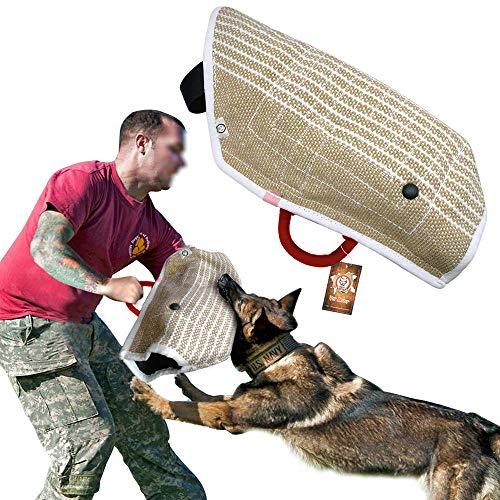 PET ARTIST Jute Puppy Dog Bite Sleeves for Young Dogs Bite Training,Fit German Shepherd/Belgium Malinois/Schutzhund/Pitbull Puppy Training