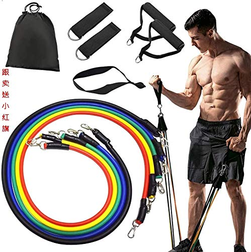 Resistance Bands Set Exercise Bands Home Workouts Include 5 Stackable Exercise Bands with Handles Carry Bag Legs Ankle Straps amp Door Anchor Attachment for Women Men