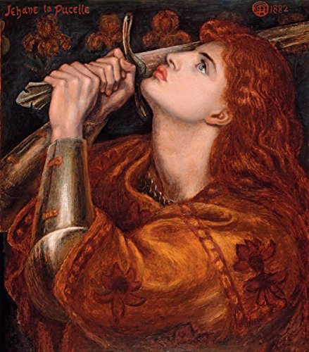 Gifts Delight Laminated 24x27 Poster: Dante Gabriel Rossetti - Joan of Arc 1882