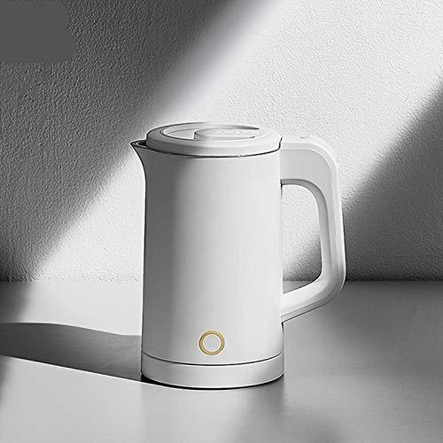 Mnjin Tragbarer Wasserkocher Glas-Wasserkocher Wasserkocher 0,6 l Kapazität Doppelschicht-Isolierung Verbrühschutz-Wassertopf Edelstahl-Thermostat Wasserkocher