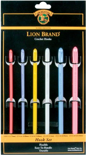 Lion Brand Yarn 400-5-1117 Crochet Hooks, Set of 6