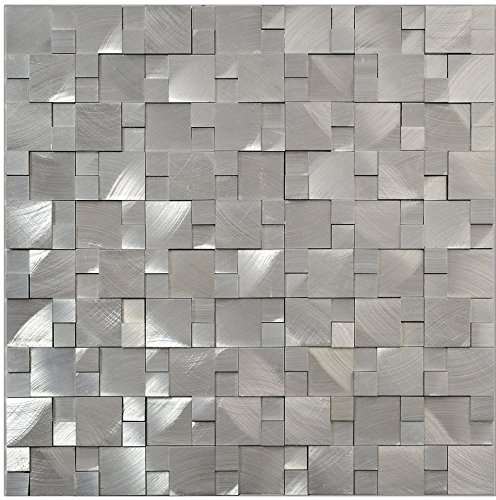Alluminio 3D mosaico in metallo argento