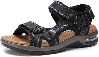 AOSENDUN 奥森盾 夏季新款AIR气垫运动凉鞋 缓冲减震 轻便露趾沙滩鞋 三点式快速调节 男士真皮凉鞋 YB-ZZ