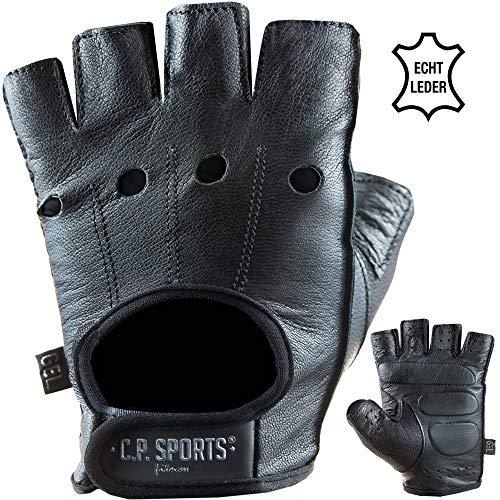 C.P. Sports Premium Leder Handschuh Extra Soft, Fitnesshandschuh Bodybuilding Fitness Crossfit Krafttraining Gym Sport, gepolstert für Männer und Frauen (XL/10 = 22-24cm)