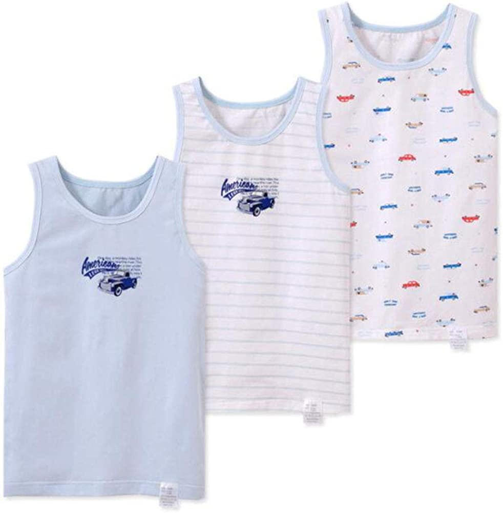 ZhuoNengDuo 3Pcs Boys Sleeveless T-Shirt Summer Kids Outerwear Boy Vests Clothes Kids Tanks Boys Cotton Vest t-Shirts