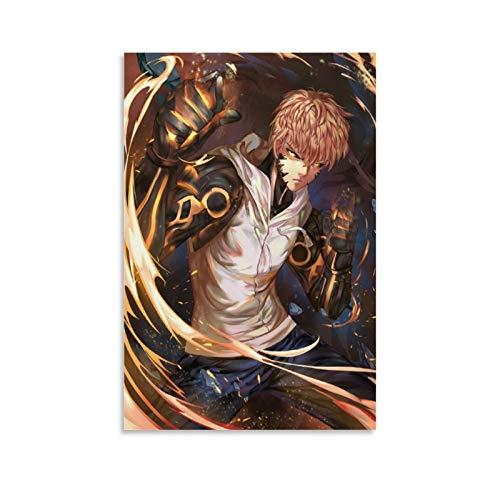 Póster de anime One PUNCH-MAN Genos 4 Lienzo artístico y arte de pared impresión moderna para dormitorio familiar 30 x 45 cm
