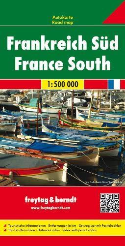 Francia sur, mapa de cerreteras. Escala 1:500.000. Freytag & Berndt.: Wegenkaart 1:500 000 (Auto karte)