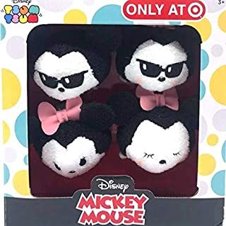 Disney Tsum Tsum 3.5 (1) Mickey and (3) Minnie Mouse 4-Pack Target Exclusive Wearing Sunglasses