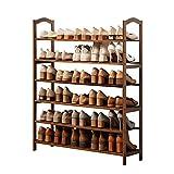 XBCDX Zapatero de bambú para Entrada de 6 Niveles, Estante de Almacenamiento Simple para Sala de Estar, baño, Estudio, 2 tamaños (tamaño: 80 y Veces; 25 y Veces; 108 cm, Color: Color n. ° 2)