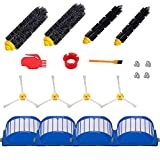 Hongfa Replacement for Roomba 614 Parts, Replenishment Kit Parts for Roomba 690 680 650 660 651 614 652 and 500 Series 595 585 564,Included Side Brush,Bristle Brush and Flexible Brush