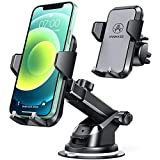 VANMASS Car Phone Mount, Universal Cell Phone Holder for Car Dashboard, Windshield, Air Vent with One-Click Release Button, Compatible with iPhone, Samsung, Google, LG, HTC & More Smartphone