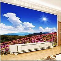 Xbwy 装飾壁画壁の壁画の壁紙の風景山のどこでも花壁の壁画の壁紙テレビの背景-150X120Cm