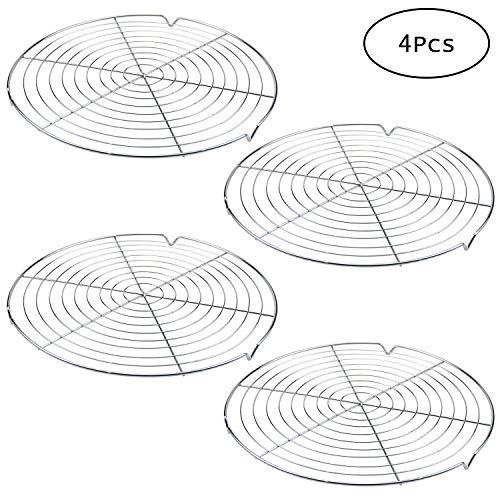 Tebery 4 Stück Kuchenauskühler Ø 32 cm, leichmäßiges und schnelles Auskühlen, leichte Lösbarkeit, extra große Auskühlfläche