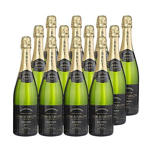 Pack Louis Bourgon Grande Réserve Blanc de Blancs Brut | 12 botellas| 0,75L