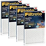 """3M MPR 2200 4-Pack Air Filtrete Filter Reduces Airborne Dust, Allergens, Bacteria & Viruses. Healthy & Elite Allergen Reduction HVAC Filter, Delivers Cleaner Air Throughout Homes (16"""" x 20"""" x 1"""")"""