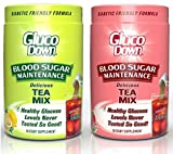 2-Pack, GlucoDown Diabetic Friendly Beverage, Maintain Healthy Blood Sugar (1-Lemon Tea & 1-Raspberry Tea)