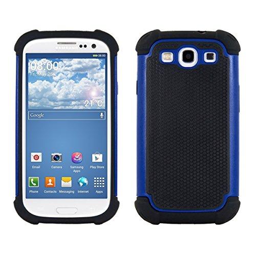 kwmobile Hülle kompatibel mit Samsung Galaxy S3 / S3 Neo - Hybrid Handy Cover Handyhülle Case Schutzhülle in Blau Schwarz