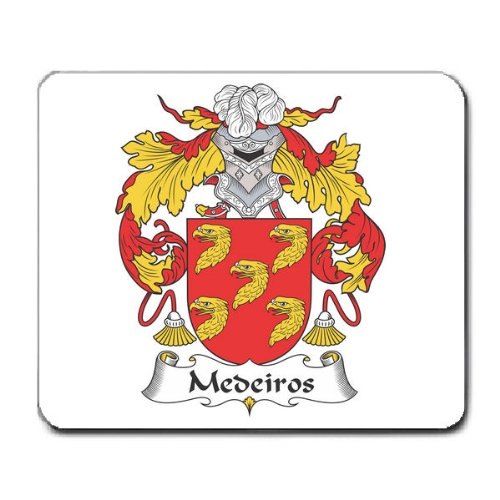 Medeiros Family Crest Coat of Arms Mouse Pad