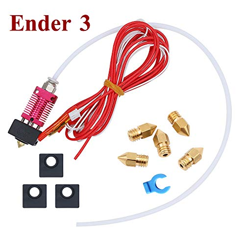 Tresbro Creality Ender 3 Original Hotend Kit Ensamblado 1.75mm 0.4mm MK10 Extrusora de Aluminio Hot End, 24V 40W