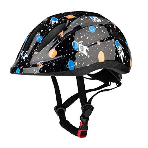 MOKFIRE Kids Toddler Bike Helmet - Children Boys Girls Skateboard Scooter Helmet Adjustable Rear Light Small 48-52cm, Medium 52-56cm