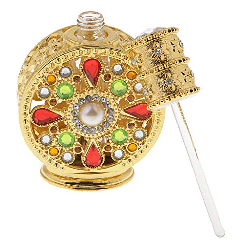 HomeDecTime Atomizador de Botella de Perfume Vacío Vintage de 12 Ml Elegante para Mujeres de Dama