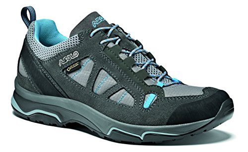Asolo Women's Low Rise Hiking Shoes, Grey Grafite Stone Cianblue A788, 6
