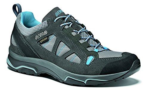 Asolo Megaton GV ML, Chaussures de Randonnée Basses Femmes, Gris (Grafite/Stone/Cianblue A788), 38 2/3 EU