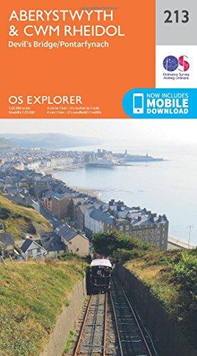 Aberystwyth and Cwm Rheidol: 213 (OS Explorer Map)